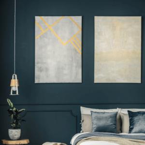 dark blue wall paint